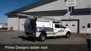Ladder rack clamp down Fiber glass cab for pick up trucks