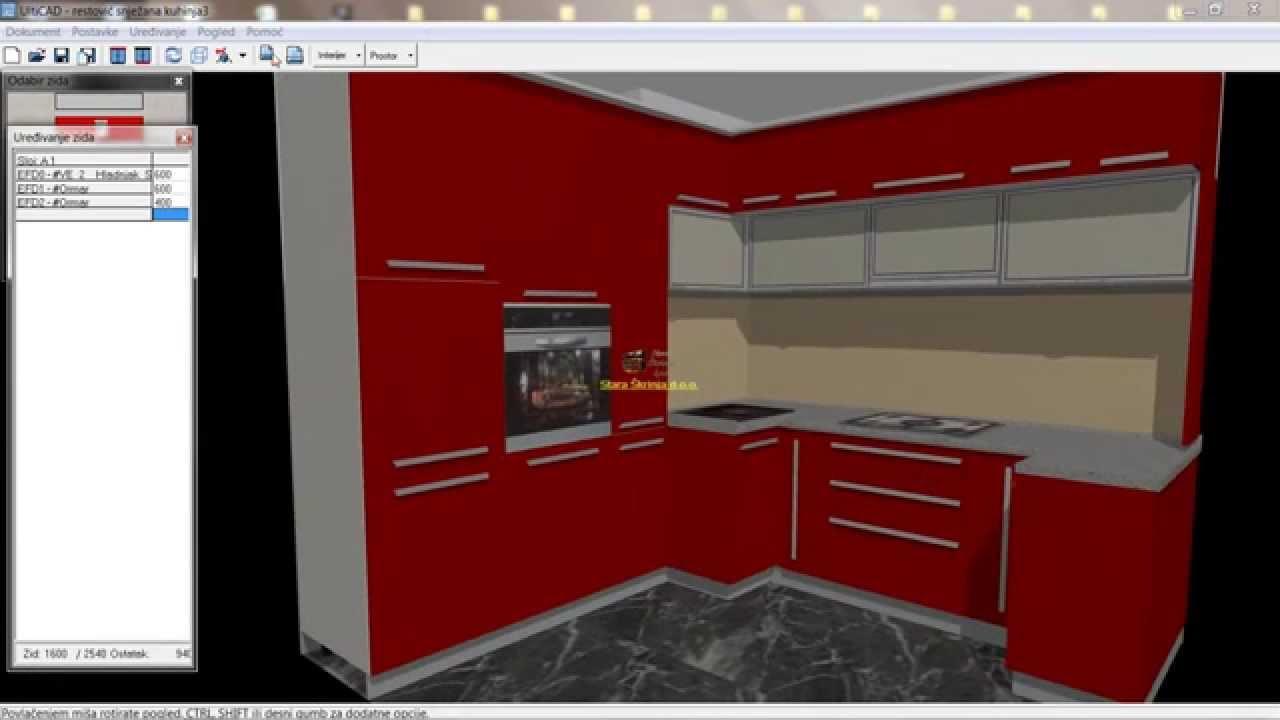 Kuhinja po mjeri Mdf visoki sjaj lakirano - YouTube
