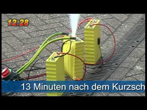 LiFePo4 crashtest - Lithium Ionen Crashtest