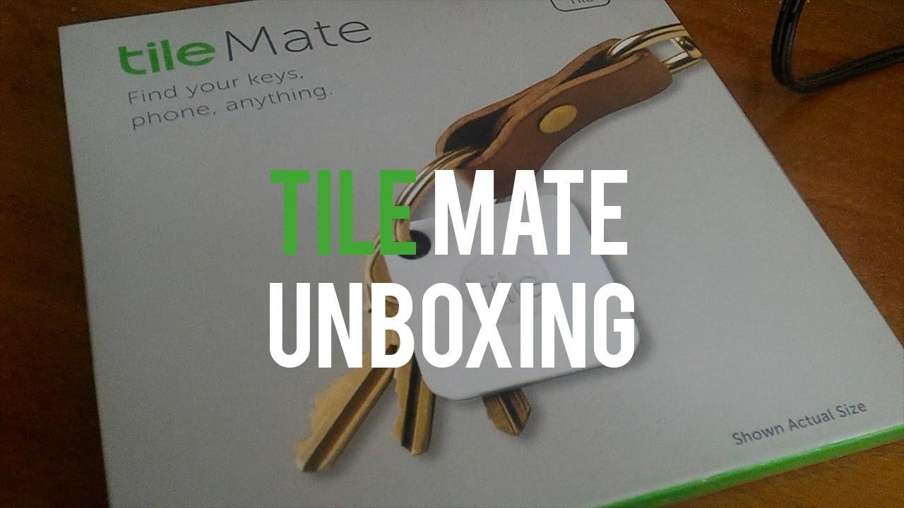 unboxing and setup of tile mate key finder