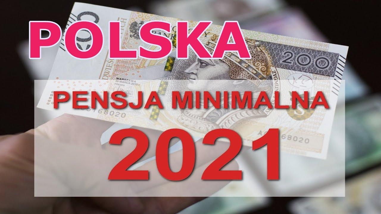 Минимальная пенсия в польше 2021 год штраф за увольнение предпенсионного возраста