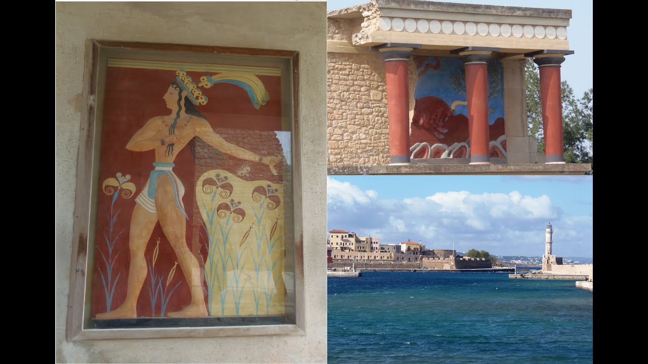 Creta Y El Palacio De Knossos O Cnosos Grecia Europa