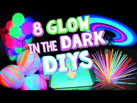 8 Glow In The Dark DIYS & Life Hacks!