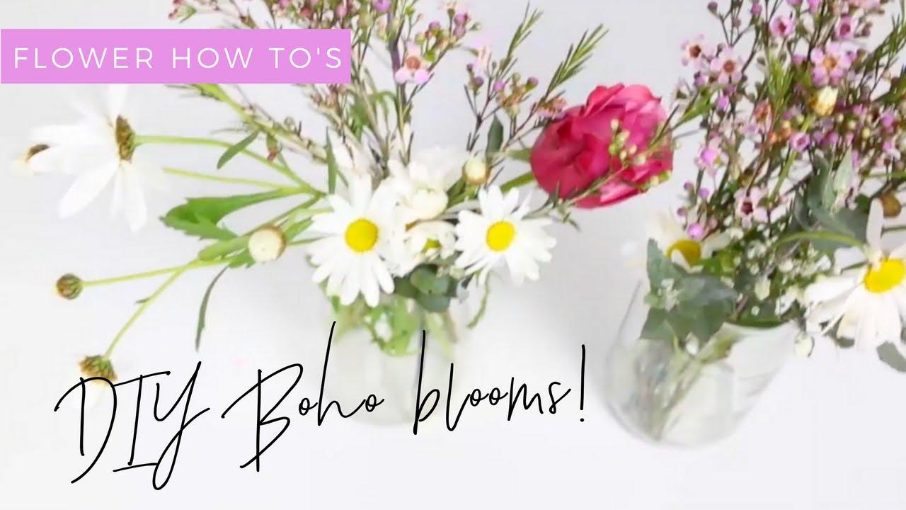 Beautiful DIY Easy Boho Wildflower Arrangements