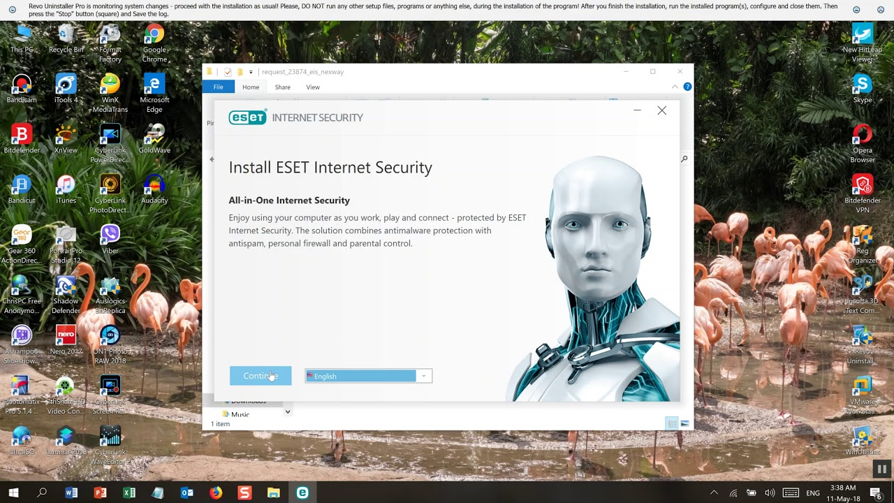 Eset Internet Security v 11 for free 90 days trial
