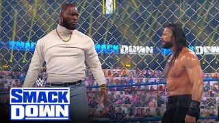WWE Mar 4, 2021 - Roman Reigns Vs Omos Jordan Omogbehin : Steel Cage Match