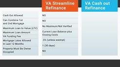Difference Between VA Streamline Refinance & VA Cash out Refinance