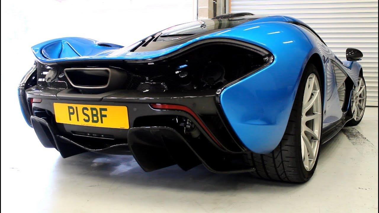 stunning blue mclaren p1 sound! - youtube
