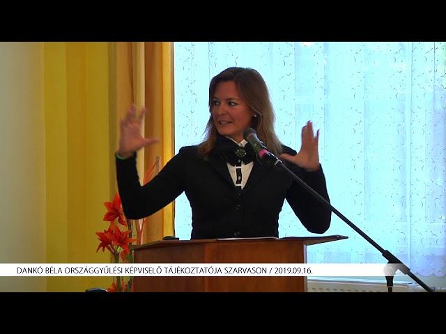 Dankó Béla tájékoztatója (2019.09.16)