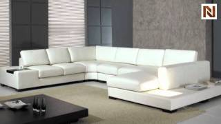 White Leather Sectional VGYIT35-1