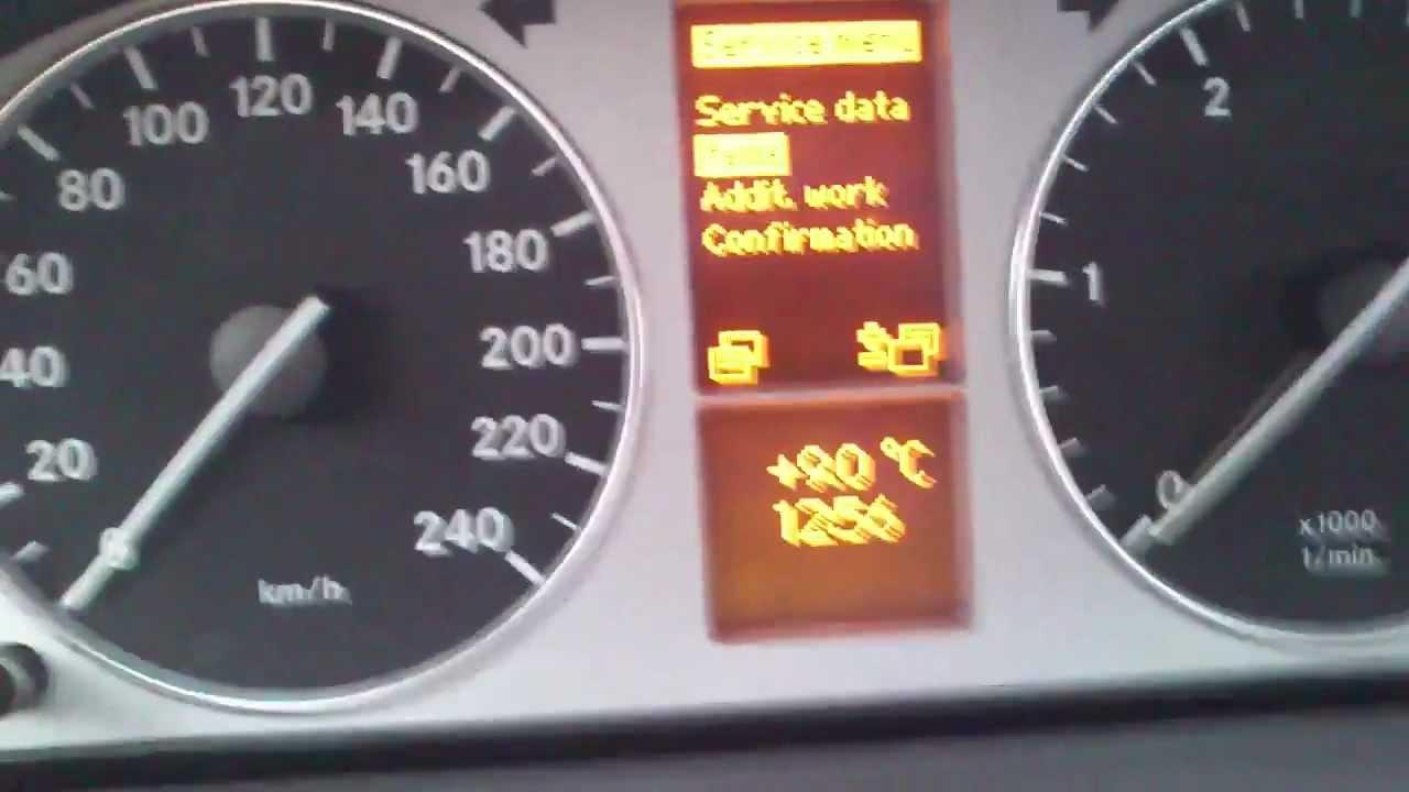 Kasowanie Inspekcji MERCEDES B KLASA W245 Oil Service Indicator Light Reset  MERCEDES B CLASS W245