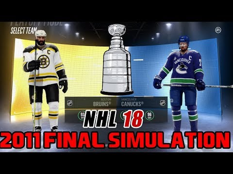 NHL 18 I 2011 STANLEY CUP REMATCH. BOSTON VS VANCOUVER