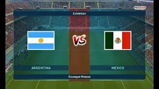 PES 2019 | Argentina vs Mexico | Friendly Match