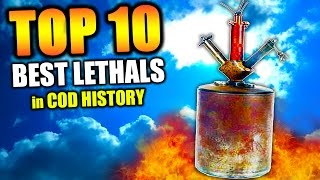 """""""MOST OVERPOWERED LETHALS"""" in COD HISTORY (Top Ten - Top 10) """"Call of Duty"""" 