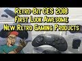 Retro-Bit CES 2018 Sega Products, New Cartridges & More! First Look!