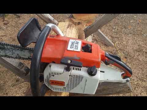 Stihl 031 AV Chainsaw w/ Dual Port Muffler - YouTube
