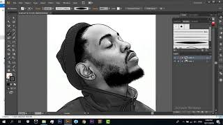 How to Cartoon your picture Using Adobe Illustrator - Kendrick Lamar