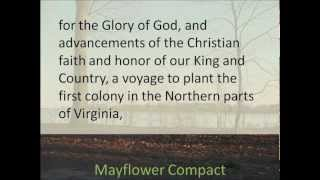 Mayflower Compact 1620 -- Hear and Read the Full Text