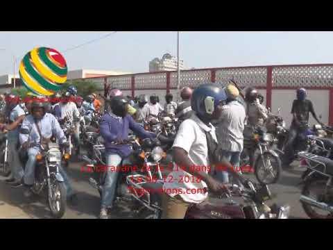 TOGO/La caravane des jeunes de la C14 devant l'Ambassade du Nigéria à Lomé