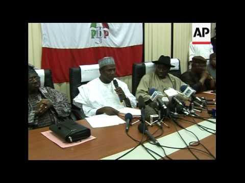 President-elect Umaru Yar'Adua speaks