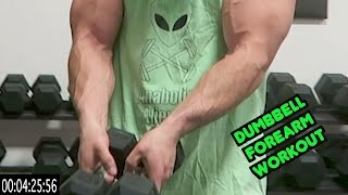 Intense 5 Minute Dumbbell Forearm Workout