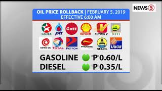 OIL PRICE ROLLBACK | February 5, 2019