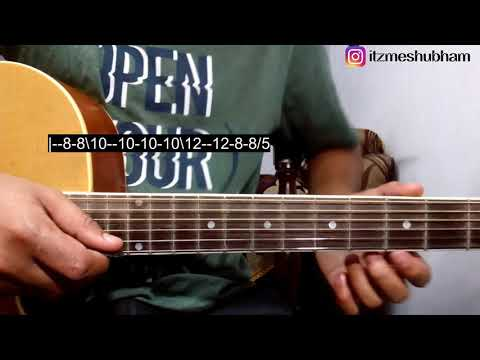 Safar - Bhuvan Bam (Single String) Guitar Tabs Tutorial | BB Ki Vines | Shubham Joshi