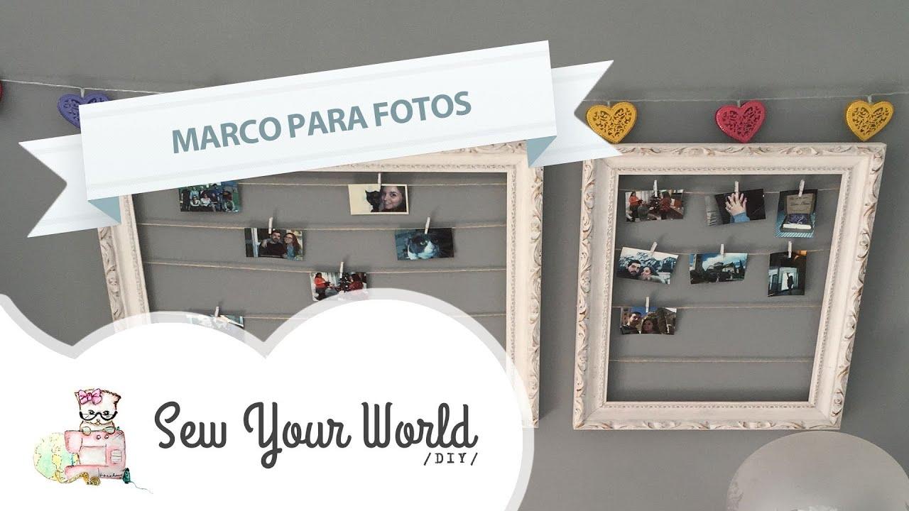 Como hacer un marco para fotos tipo Polaroid #DIY - YouTube