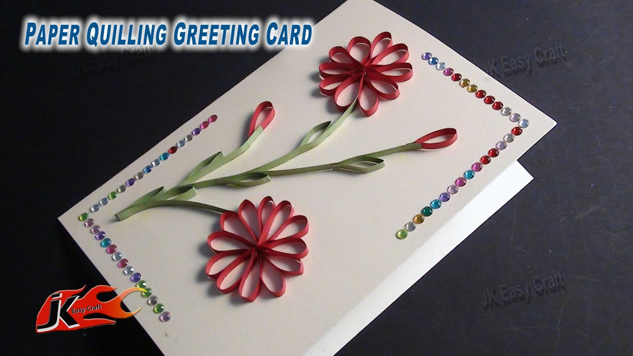 Diy easy paper quilling greeting card without tool how to make diy easy paper quilling greeting card without tool how to make jk easy craft 050 youtube m4hsunfo