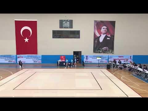 Ece Doğan-Elif Ceren Çubuk-Zeynep Ela Kınacı Başkent Akademi Cimnastik 2019 3.Lig Aerobik Cimnastik