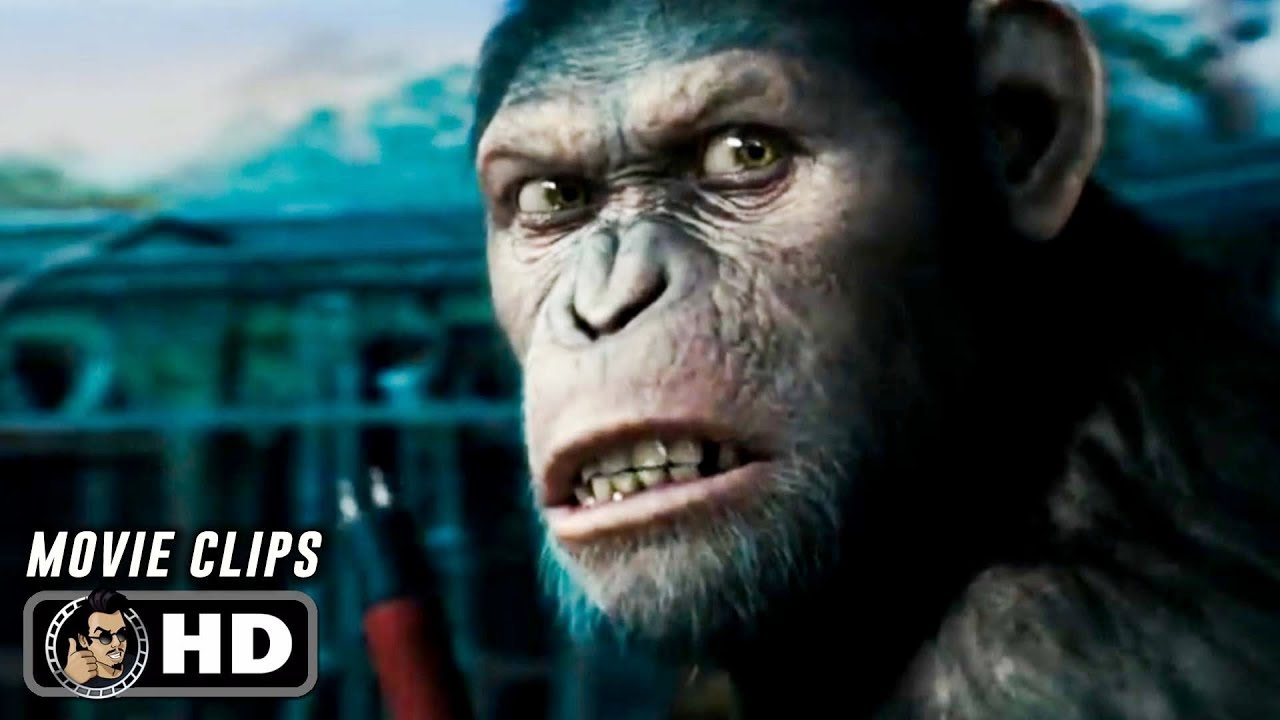Rise Of The Planet Of The Apes Clips Trailer 2011 James Franco Andy Serkis Youtube