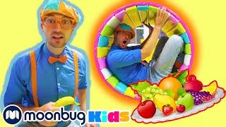 BLIPPI  Visits Funtastic Playtorium | ABC 123 Moonbug Kids | Fun Cartoons | Learning Rhymes
