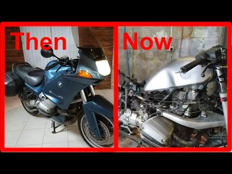 BMW R1100RS - Fuel Tanks Swap - Custom Brat Style Bobber Motor Cycle Build Part 1