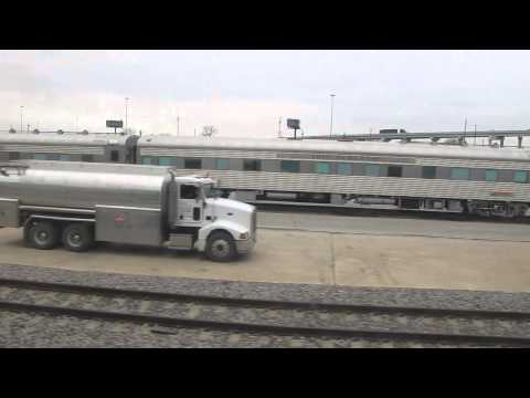 BNSF Business Car Game Train at Fort Worth January 12, 2015