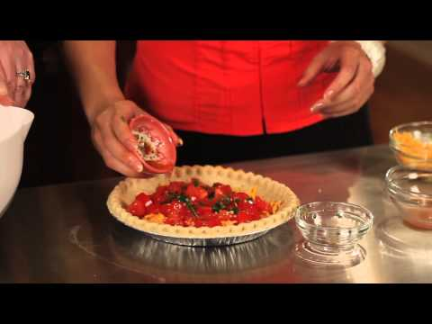 Cheddar & Tomato Quiche : Gourmet Quiche Recipes
