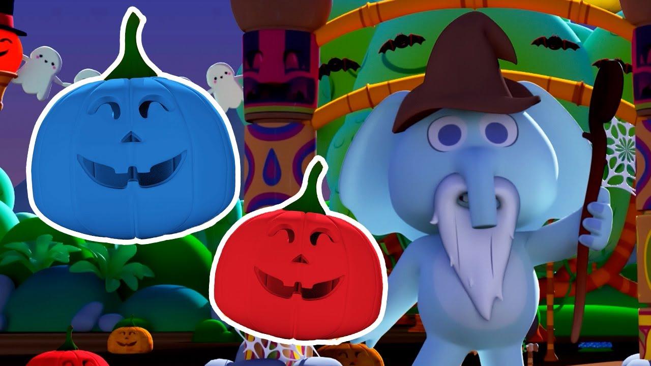 ¡Huevos Sorpresa de HALLOWEEN! 🎃 El Elefante Blas y Calabazas de Colores 🎃 Canciones del Zoo