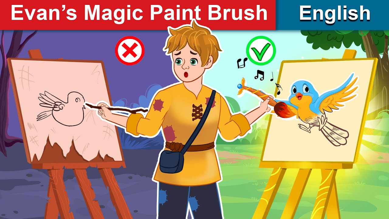 Evan's Magic Paint Brush 🖌 Bedtime stories 🌛 Fairy Tales For Teenagers | WOA Fairy Tales
