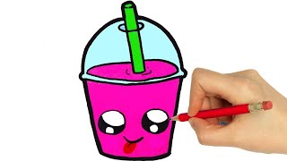 HOW TO DRAW A MILK SHAKE CUTE