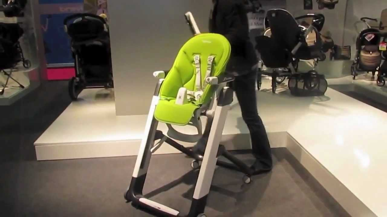 Peg perego siesta mebel youtube for Chaise haute peg perego