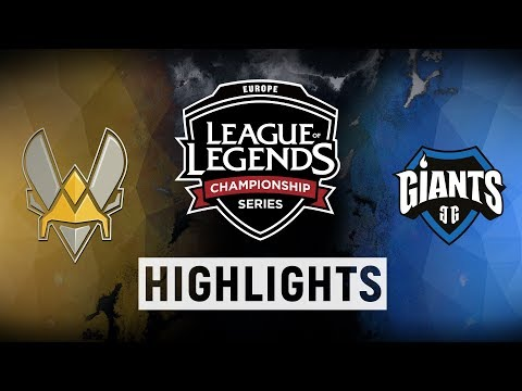 VIT vs. GIA - EU LCS Week 1 Day 2 Match Highlights (Summer 2018)