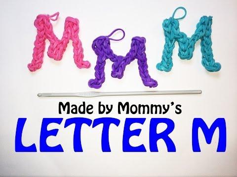 Rainbow Loom Letter M Charm Using Just the Hook