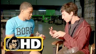 Ezra Miller & Ray Fisher play with JUSTICE LEAGUE Movie Action Figures