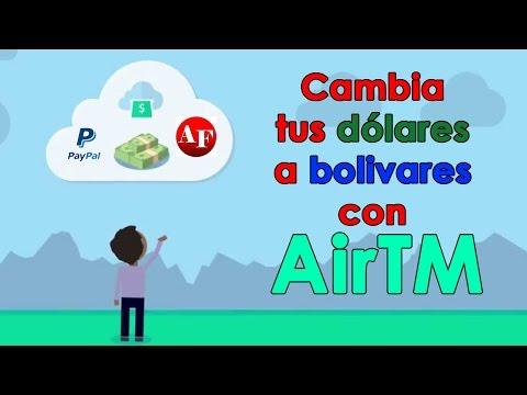 """Con """"AirTM"""" retira tus dólares en Bancos de Venezuela."""