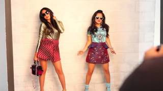 Behind the Scenes of Jasmine V & Becky G's February 2014 Cover Shoot