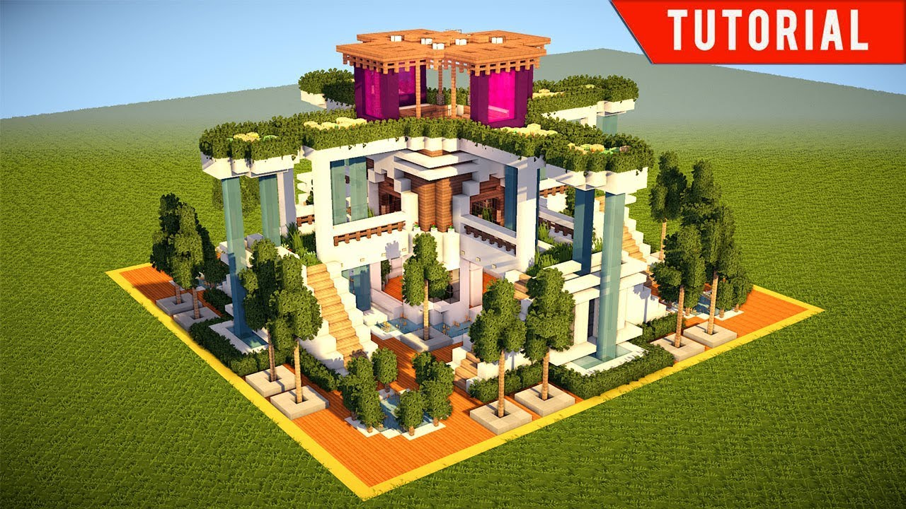 Minecraft how to build a large modern house tutorial for Building a house for 250k