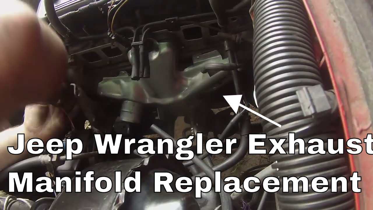 99 jeep wrangler exhaust manifold [ 1280 x 720 Pixel ]