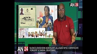 WHY IS EVERYONE SILENT OVER KEMI ADEOSUN'S ALLEGED NYSC CERTIFICATE  FORGERY SCANDAL?