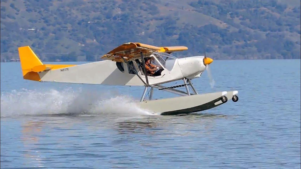 Seaplane Pilot First Flight On Water Zenith Ch 750 On Zenair Amphibious Floats Youtube