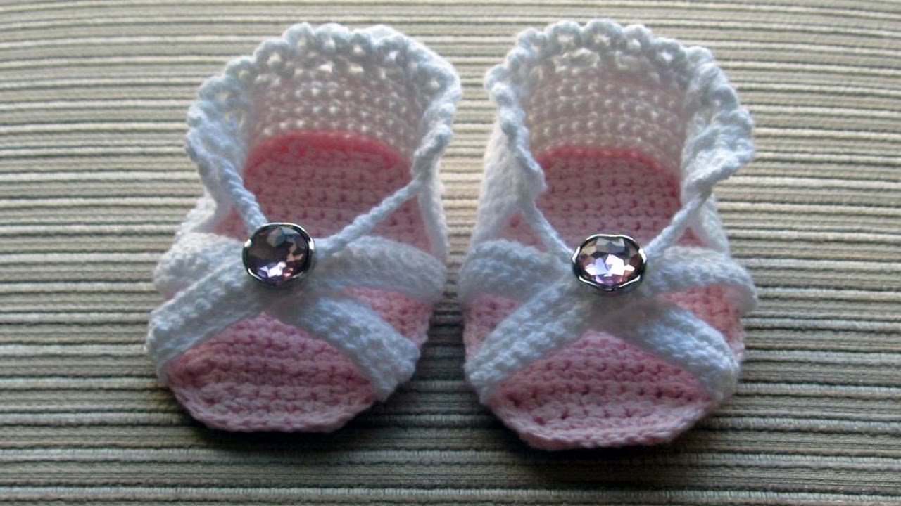Crochet Baby Sandals For Girls ᴴᴰ Youtube