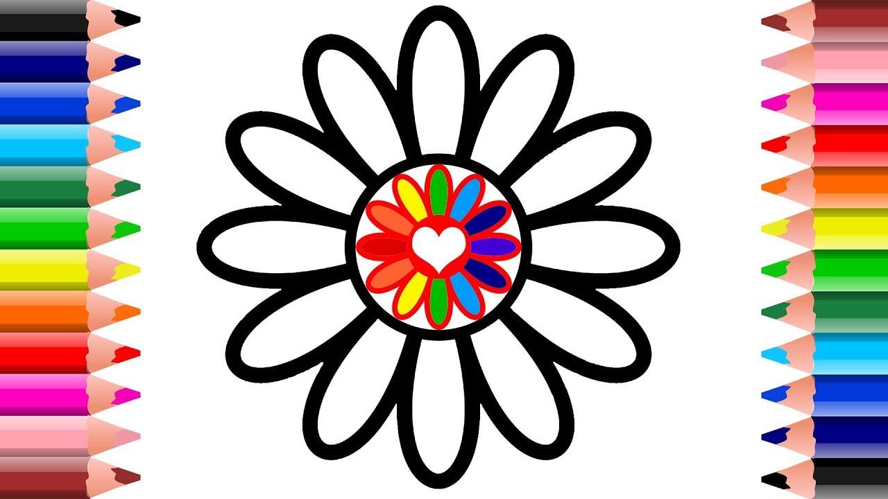 How to Draw Flower Rainbow Flower